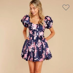 Red Dress Boutique Navy and Pink Floral Dress